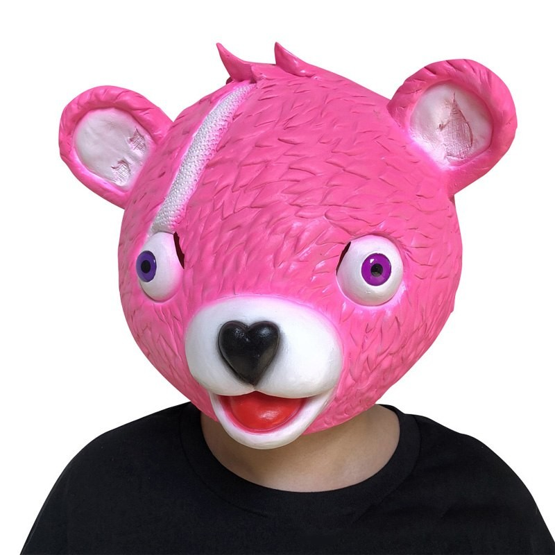 masque fortnite nounours rose experte des calins fireworks team leader - skin experte des calins fortnite png