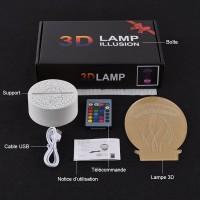 Contenu boite lampe Fortnite 3D