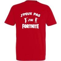 T-shirt J'peux pas j'ai Fortnite danseurs rouge