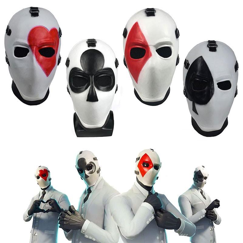 Masque Fortnite Joker Cœur Trèfle Carreau Pique