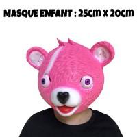 Masque Fortnite Ours Rose enfant