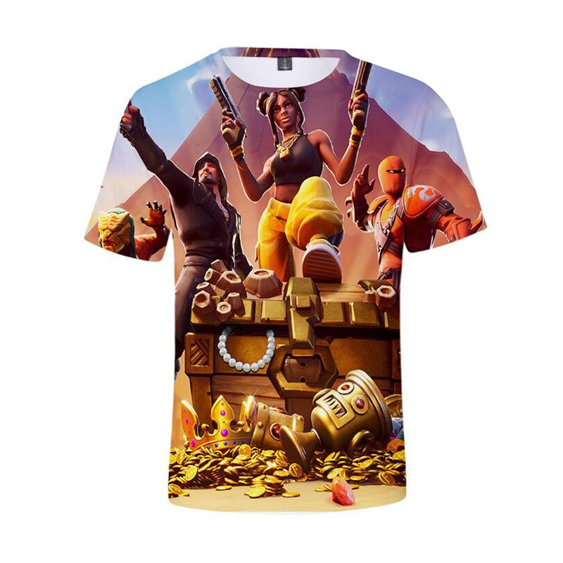 T-shirt Fortnite Skins Saison 8 : Coeur Noir, Ambre, Hybride