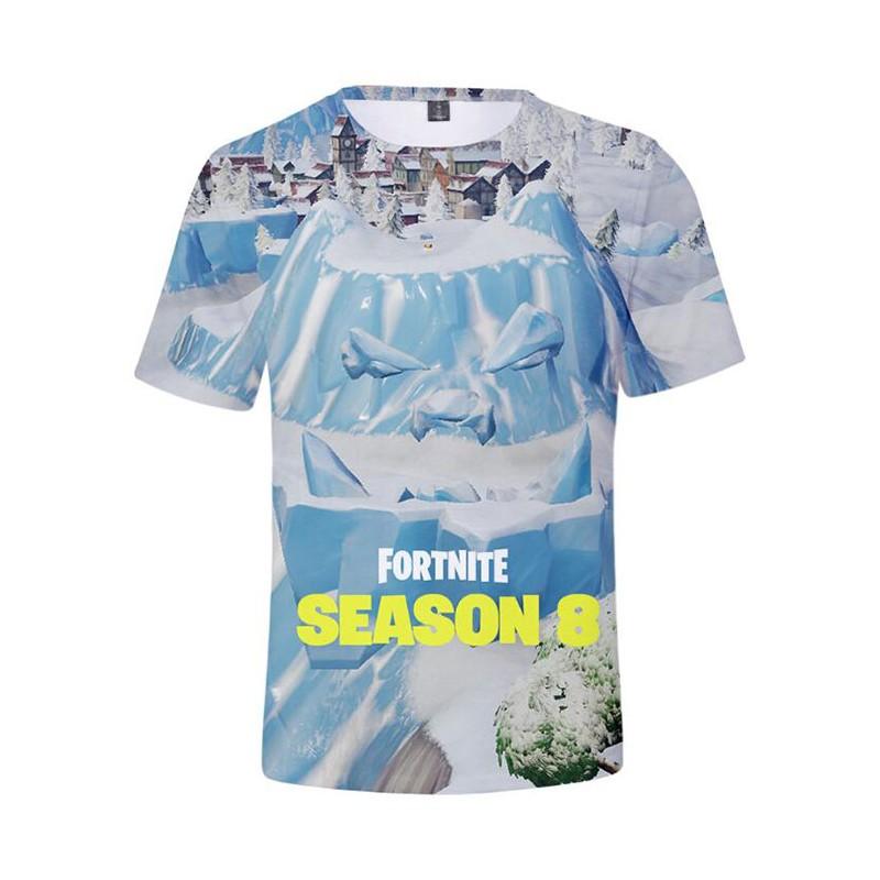 960add7a0bb19 La Boutique Fortnite - T-shirt Fortnite du Visage du Géant de Glace ...