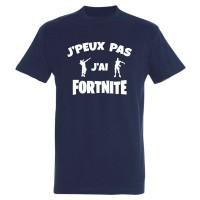 T-shirt J'peux pas j'ai Fortnite danseurs bleu marine