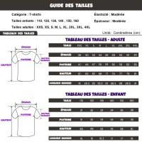 Guide/tableau des tailles T-shirt Fortnite