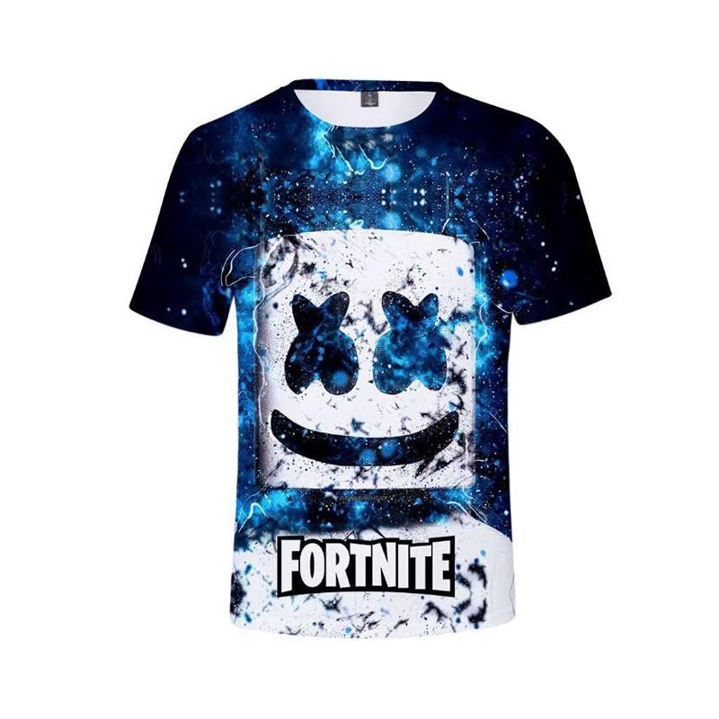 T-shirt Fortnite Tête Marshmello Électrique