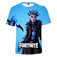 T-shirt Fortnite : Reine des Glaces bleu